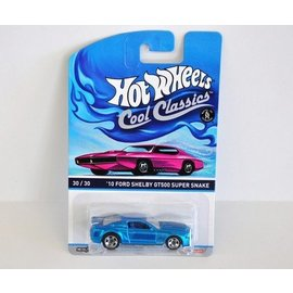 Hot Wheels HW Cool Classics 2010 Shelby GT500 Super Snake Blue Mattel 1:64