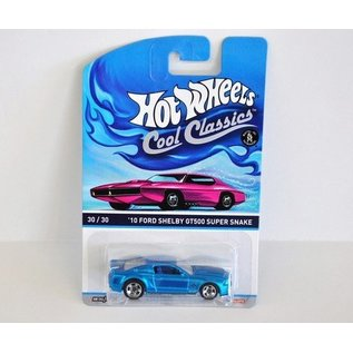 Hot Wheels HW Cool Classics 2010 Shelby GT500 Super Snake Blue Mattel 1:64