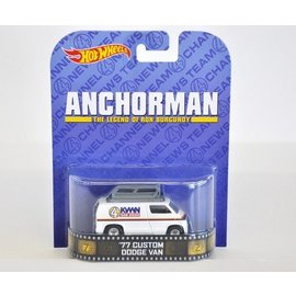 Hot Wheels HW 1977 Custom Dodge Van Anchorman Retro Entertainment Mattel 1:64