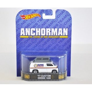 Hot Wheels HW 1977 Custom Dodge Van Anchorman Retro Entertainment Mattel 1:64