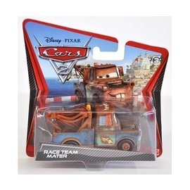 Mattel CARS 2 Race Team Mater Short Card Mattel 1:50 Diecast Car