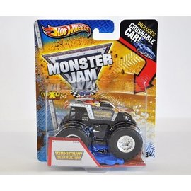 Hot Wheels HW Monster Jam Maximum Destruction Silver Mattel 1:64