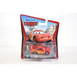 Mattel CARS 2 Lightning McQueen With Racing Wheels Mattel 1:50 Diecast Car