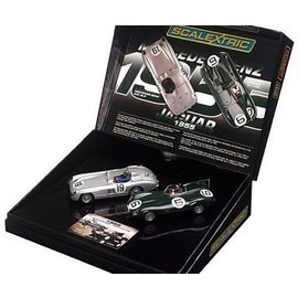 Scalextric Jaguar-Mercedes Benz Ltd. Ed. Set - Scalextric - 1:32 Slot Car