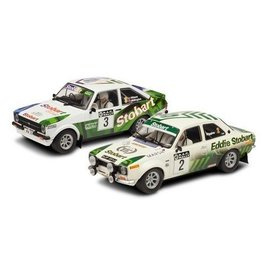 Scalextric Eddie Stobart RAC Rally Escorts Set Scalextric 1:32 Scale Slot Cars