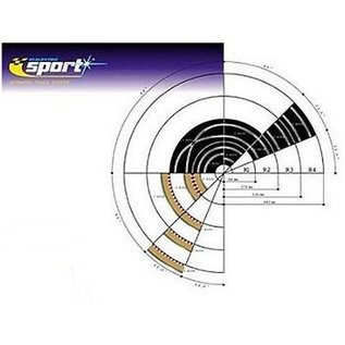 Scalextric Radius 3 Curve Outer Boarder Scalextric 1:32 Slot Car