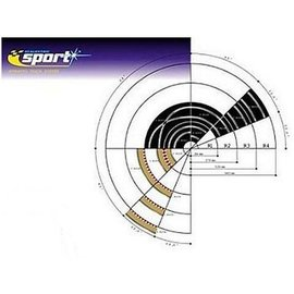 Scalextric Radius 2 Curve Inner Boarders Sclextric 1:32 Slot Car