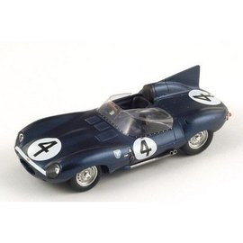 Spark Models Jaguar D Type #4 Winner LeMans 1956 Spark 1:43 Diecast