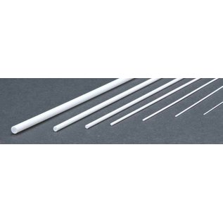 Evergreen Scale Models Round Rod Assortment - White Plastic - Evergreen pkg of 7