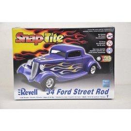 Revell-Monogram RMX 1934 Ford Street Rod - RMX - 1:25 Scale Snap Tite Plastic Model Kit