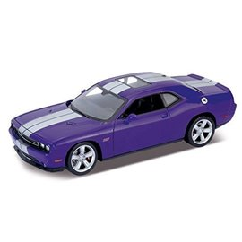 Welly Die Casting Dodge Challenger SRT Purple Welly 1:24 Diecast Car