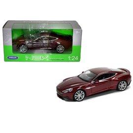 Welly Die Casting Aston Martin Vanquish in Burgundy Welly 1:24 Diecast Car