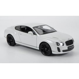 Welly Die Casting Bentley Continental Supersports White Welly 1:24 Diecast Car