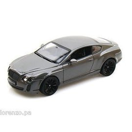 Welly Die Casting Bentley Continental Supersports Grey Welly 1:24 Diecast Car