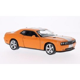 Welly Die Casting Dodge Challenger SRT Orange Welly 1:24 Diecast Car
