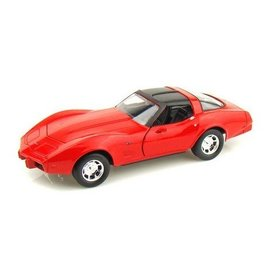 Motor Max 1979 Chevy Corvette Red Motor Max 1:24 Diecast Model Car