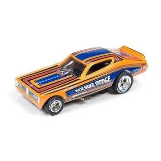 Auto World 1971 Dodge Charger Funny Car White Bear Dodge Legends Of The Quarter Mile AW HO Slot Car