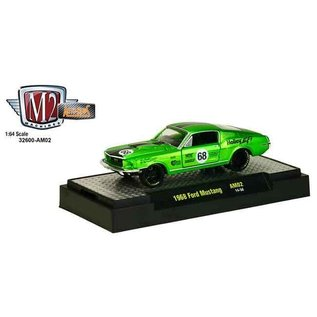 M2 Machines M2 Machines 1968 Ford Mustang Auto Mods Series 2 Green 1:64 Scale Diecast Model Car