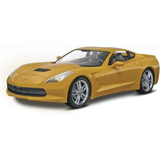 Revell-Monogram RMX 2014 Chevrolet Corvette Stingray in Yellow Snap Tite Revell 1:25 Scale Plastic Model Kit