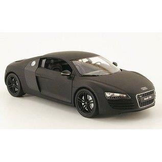 Welly Die Casting Audi R8 in Matt Black Welly 1:24 Scale Diecast Model Car