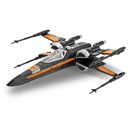 Revell-Monogram RMX Revell Star Wars Poe's X-Wing Fighter Build And Play Snap Tite Model Kit