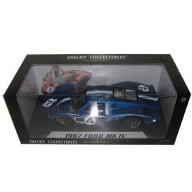 Carroll Shelby Collectibles 1967 Ford Mk IV #4 Blue Shelby Collectibles 1:18 Scale Diecast Model Car