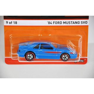 Hot Wheels Hot Wheels 1984 Ford Mustang SVO Blue Redline Series Mattel 1:64 Diecast Car