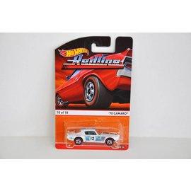 Hot Wheels Hot Wheels 1970 Camaro White Redline Series Mattel 1:64 Diecast Car