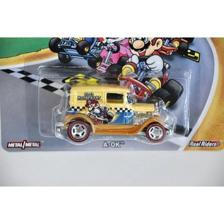Hot Wheels Hot Wheels A-OK Super Mario Kart Mario Bros. Series Mattel 1:64 Scale Diecast Model Car