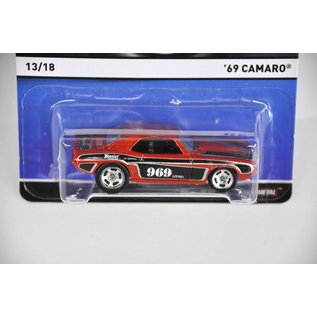 Hot Wheels Hot Wheels 1969 Chevy Camaro Red Real Riders Mattel 1:64 Diecast Model Car
