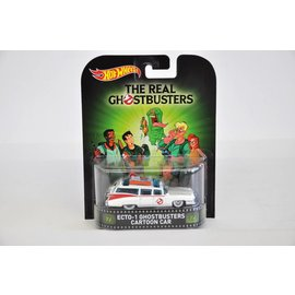 Hot Wheels Hot Wheels Ecto-1 Ghostbusters Cartoon Car Retro Entertainment Mattel 1:64 Diecast Model Car