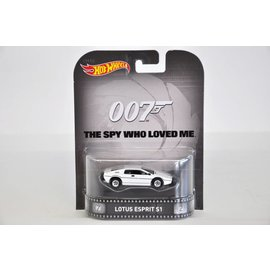 Hot Wheels Hot Wheels Lotus Esprit S1 James Bond Spy Who Loved Me Retro Entertainment Mattel 1:64 Diecast Car