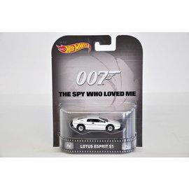 Hot Wheels Hot Wheels Lotus Esprit S1 James Bond Spy Who Loved Me Retro Entertainment Mattel 1:64 Diecast Car