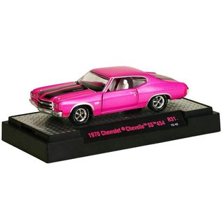 M2 Machines M2 1970 Chevrolet Chevelle SS 454 Pink Detroit Muscle Series 31 1:64 Scale Diecast Model Car