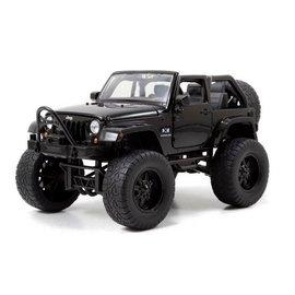 Jada Toys 2007 Lifted Jeep Wrangler Black Jada 1:24 Scale Diecast Model Car