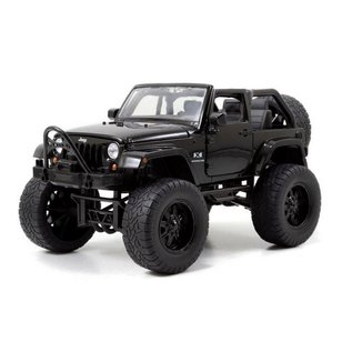 Jada Toys 2007 Lifted Jeep Wrangler Black Jada 1:24 Scale Diecast Model Car