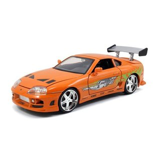 Jada Toys Jada Toys Brian's Toyota Supra Orange Fast & Furious 1:24 Scale Diecast Model Car