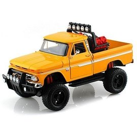 Motor Max Motor Max 1966 Chevy C10 Fleetside Pickup Truck Yellow Off Road 1:24 Scale Diecast Model Car