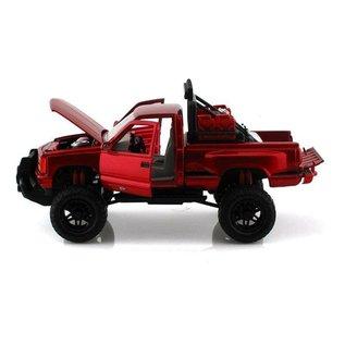 Motor Max Motor Max 1992 GMC Sierra GT Pickup Red Off Road 1:24 Scale Diecast Model Truck