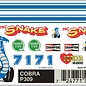 Pinecar PineCar Cobra Dry Transfer Decals for Pine Wood Derby Cars