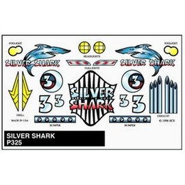 Pinecar PineCar Silver Shark Stick On Decals For Pine Wood Derby Cars
