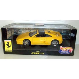 Hot Wheels Hot Wheels Ferrari F355 GTS Yellow 1:18 Scale Diecast Model Car