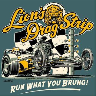 Classic Graphix Lions Run What You Brung 2 T-Shirt - Blue