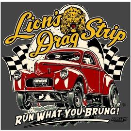 Classic Graphix Lions Run What You Brung 2 T-Shirt - Dark Gray