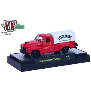 M2 Machines M2 Machines 1952 Studebaker 2R Truck Red Studebaker 1:64 Scale Diecast Model Car