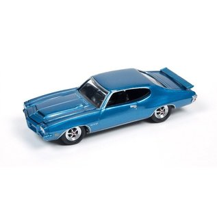 Johnny Lightning Johnny Lightning 1971 Pontiac GTO Blue Muscle Cars USA 2016 Series 1:64 Scale Diecast Model Car
