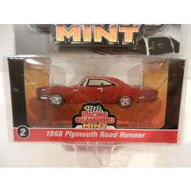 RC2 (Racing Champions) Racing champions Mint 1968 Plymouth Road Runner Red 2016 Series 1:64 Scale Diecast Model Car