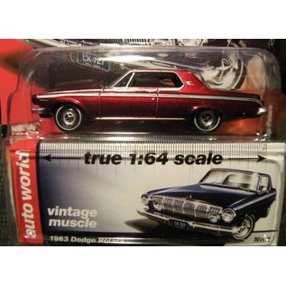 Auto World Auto World 1963 Dodge Polara Red Chase Vintage Muscle Premium Series Release 4 1:64 Scale Diecast Model Car