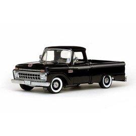 Sun Star Sun Star 1965 Ford F-100 Custom Cab Pickup Truck Black 1:18 Scle Diecast Model Car
