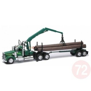 New Ray New Ray Kenworth W900 Log Hauler Green 1:32 Scale Diecast Model Truck